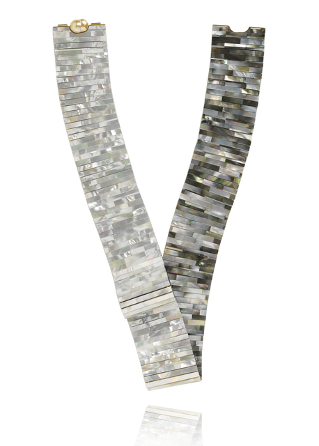 , 'Mother of Pearl Tile loop necklace ,' 2016, Petronilla Silver