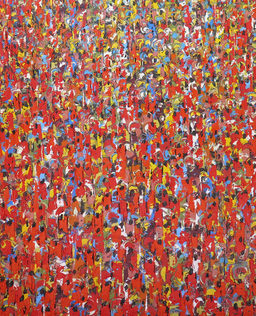 , 'The people (red) II Prof 013/014,' 2015-2016, Christopher Moller Gallery