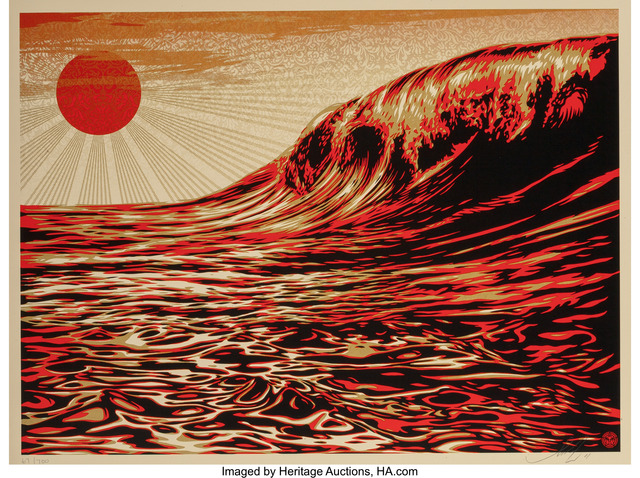 Shepard Fairey (OBEY), 'Dark Wave/Rising Sun, for Tsunami Victims', 2011, Heritage Auctions
