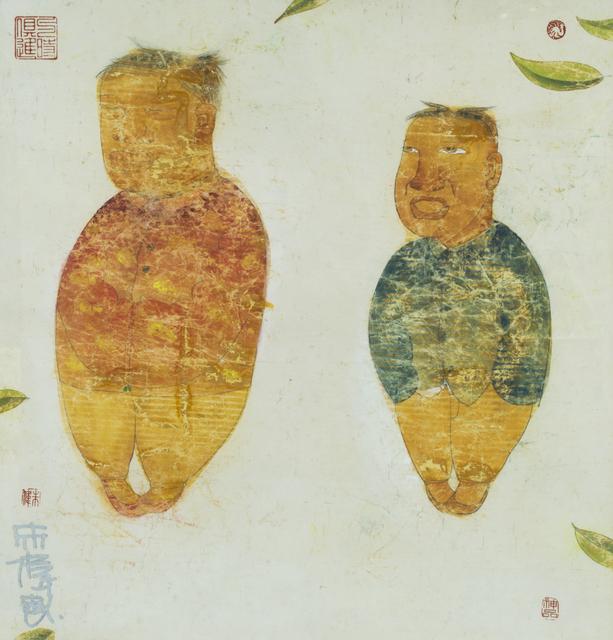 , '开春图粉本之九; Vernal Equinox Model Sketch, No. 9,' 2006, Linda Gallery