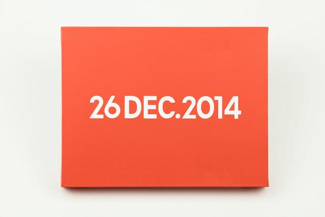 , 'On Kawara, Today Series, 26 DEC.2014,' 2014, MadeIn Gallery