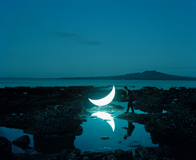 Leonid Tishkov, 'Private Moon in New Zealand near volcano Rangitoto', 2012, Galerıe Blue Square