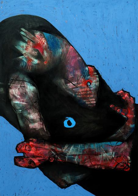 , 'Figure on Blue,' , ANNO DOMINI