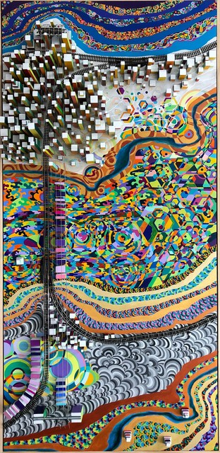 , 'Vibration Lands,' 2018, InLiquid