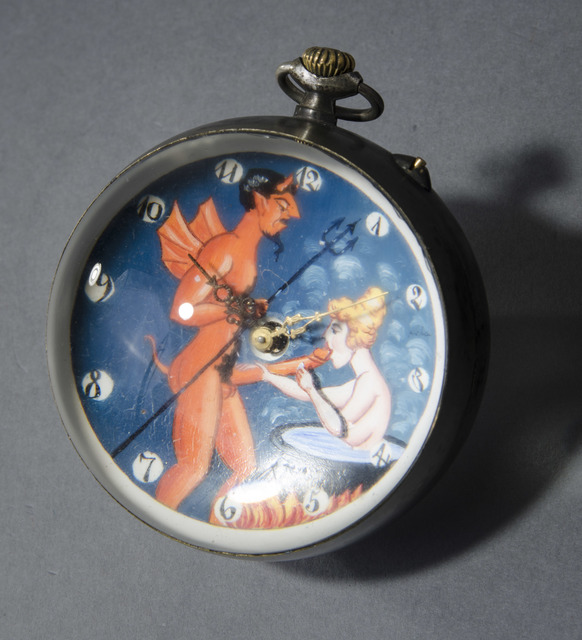 , 'Erotic Devil and Angel Ball Clock,' 1998, Hieronymus