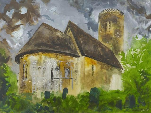John Piper, 'St Margaret's Church, Hales, Norfolk', 1984, Portland Gallery