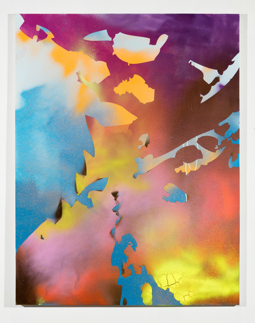 , 'Ethereal Zoom (blue, purple, orange, yellow),' 2016, Erin Cluley Gallery