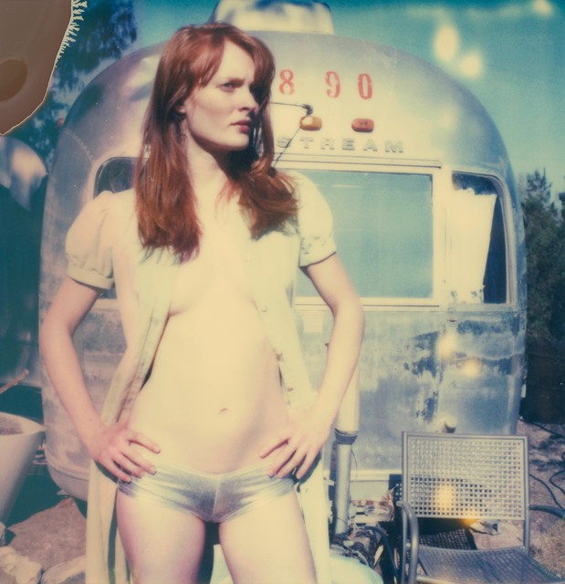, 'Daisy in front of Trailer,' 2005, Instantdreams