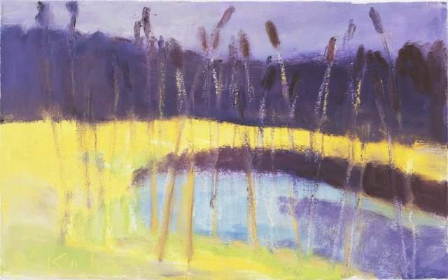 Wolf Kahn, 'Cattails II', 2003, Adelson Cavalier Galleries