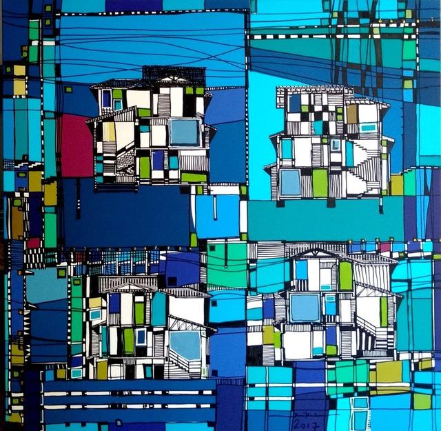 Kika Marciano, 'Blue Houses', 2017, Ligia Testa Espaço de Arte