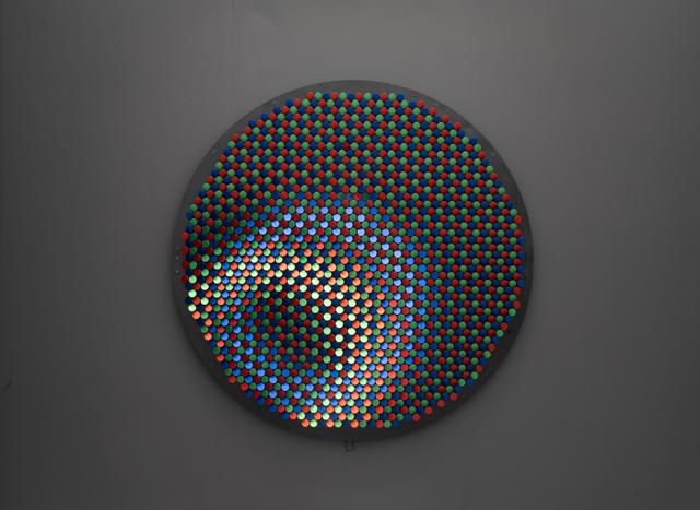 Daniel Rozin, 'RGB Peg Mirror', 2019, Installation, Anodized aluminum knobs, motors, 3D camera, control electronics, computer, custom software, bitforms gallery