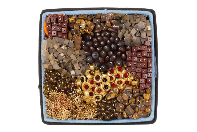 Steven and William Ladd, 'David', 2014, Sculpture, Fiber, pins, beads, archival board, thread, metal trinkets, Saint Louis Art Museum