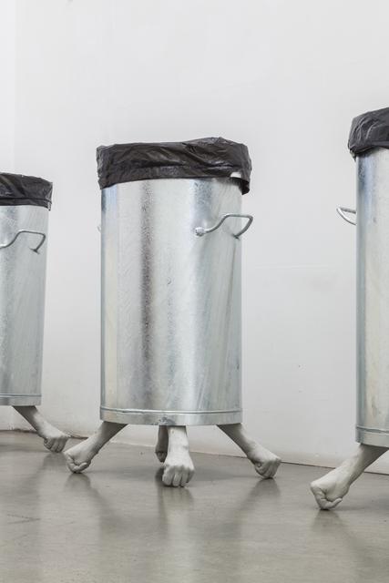 , 'im eimer #1 #2 #3,' 2019, Christine König Galerie