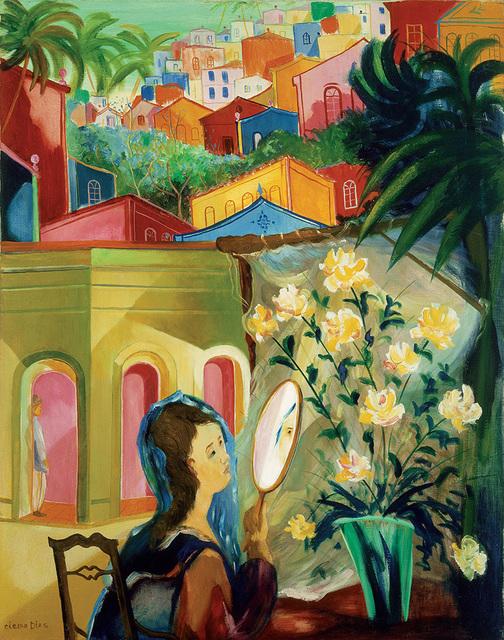 , 'Moça no Espelho - 92 x 73 cm - óleo sobre tela - ,' ca. 1950, Simões de Assis Galeria de Arte