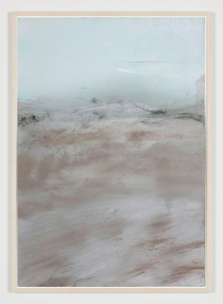 """Carla Chan, """"Clouded White - Y 沌 白"""" (2018), nature color pigment glued and printed on paper, wooden framed with museum glass, 100 × 70 cm"""
