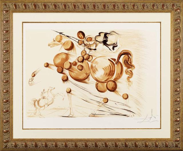 """, '""""Spectral Horse"""" Hand Signed Salvador Dali Lithograph,' 1941-1957, Elena Bulatova Fine Art"""