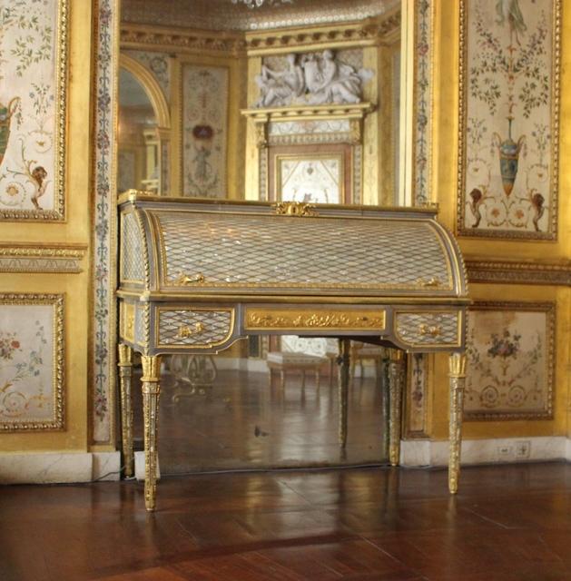 'Petit secretaire du boudoir d'argent (Small silver secretary boudoir)', 1786, Château de Fontainebleau
