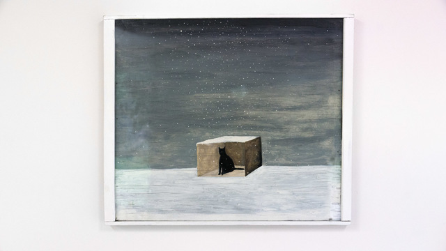 , 'Cat in Box in Snow,' 1999, The Watermill Center
