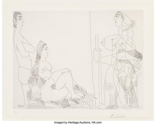 Pablo Picasso, 'Couple et Voyageuse, from La Serie 347', 1968, Heritage Auctions