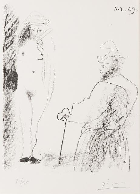 Pablo Picasso, 'Femme Nue et Homme a la Canne (Bloch 1464)', 1969, Forum Auctions