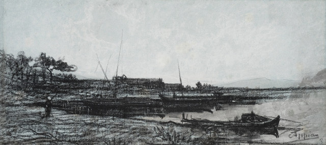 , 'View of an Estuary near Martigues,' 1818-1898, Jill Newhouse Gallery