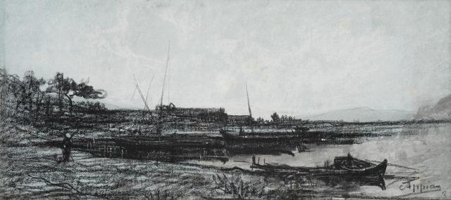 Adolphe Appian, 'View of an Estuary near Martigues', 1818-1898, Jill Newhouse Gallery