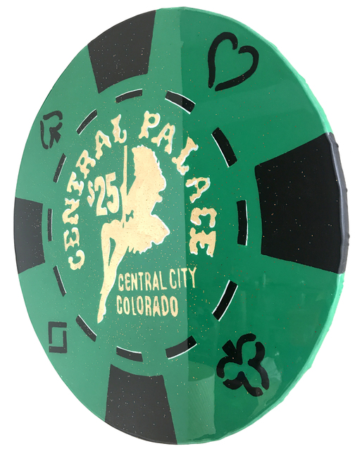 , 'Central Palace- Giant Casino Chip,' 2017, SPiN Galleries