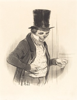 Honoré Daumier, 'Le Portier en tournées de visites...', 1841, National Gallery of Art, Washington, D.C.