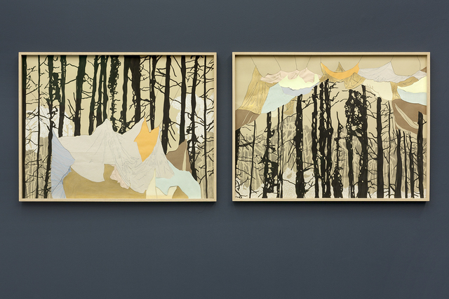 , 'Forest keeping a tent / Tent embracing a forest (diptych),' 2016, Kasia Michalski Gallery