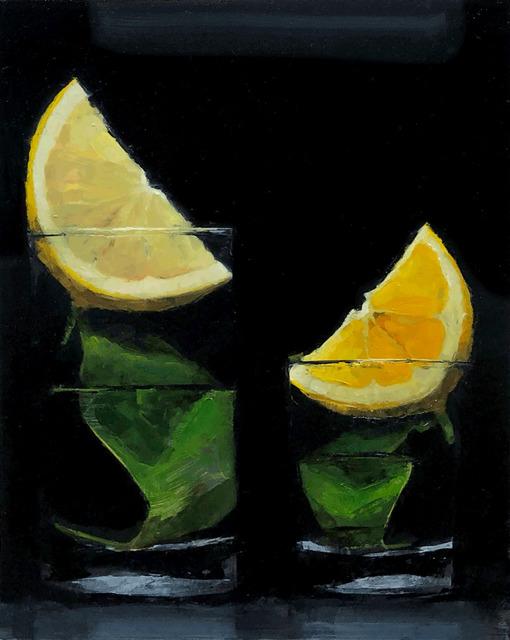 Tom Giesler, 'Floral 52: meyer-lemon / lemon-lemon', 2021, Painting, Oil on panel, McVarish Gallery