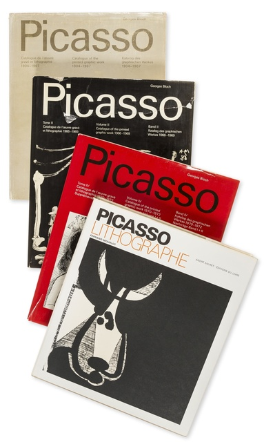 Pablo Picasso, 'Catalogue of the Printed Graphic Work I,II,IV & Picasso Lithographe', Print, The complete set of three catalogues of the Picasso's graphic work; together with Picasso Lithographe, Forum Auctions
