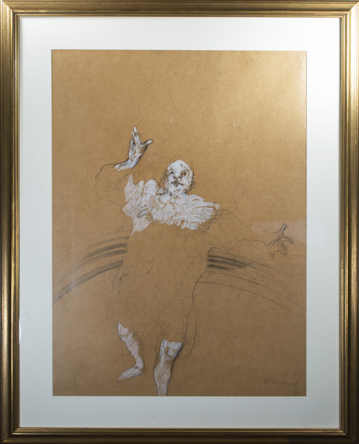 Claude Weisbuch, 'Clown, on butcher like paper', 1980, David Barnett Gallery