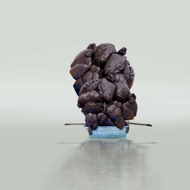 , 'Floating a Boulder,' 2012, Robert Mann Gallery