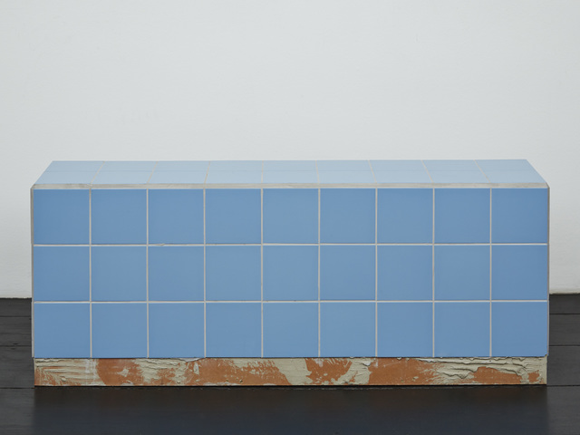 , 'Reading bench (blue),' 2016, Isabella Bortolozzi Galerie