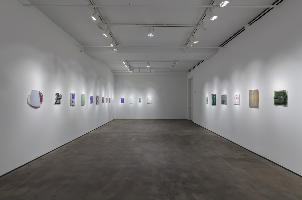 Installation view of Sam Moyer: Naked as the Glass at Sean Kelly, New York February 21 - March 16, 2019 Photography: JSP Art Photography Courtesy: Sean Kelly, New York