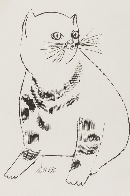 Andy Warhol, 'Sam (from Twenty-five cats name(d) Sam and one blue pussy) (Feldman and Schellmann IV.61B)', ca. 1954, Forum Auctions