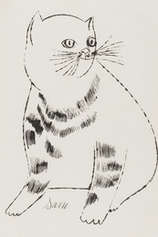 Andy Warhol, 'Sam (from Twenty-five cats name(d) Sam and one blue pussy) (Feldman and Schellmann IV.61B),' ca. 1954, Forum Auctions: Editions and Works on Paper (March 2017)