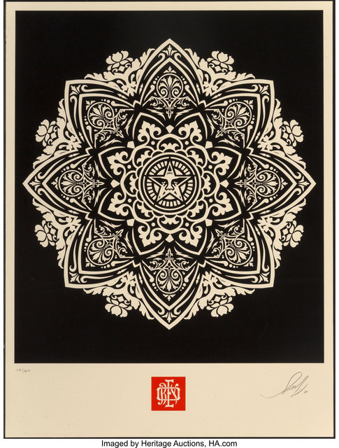 Shepard Fairey (OBEY), 'Mandala Ornament 2 (Black and Cream) (two works)', 2010, Heritage Auctions