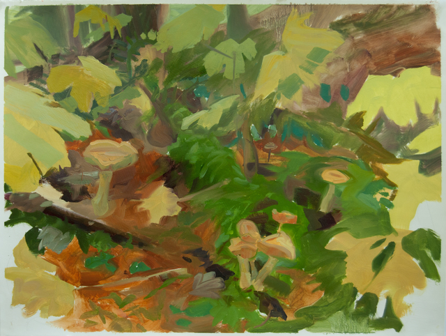 , 'Forest Floor with Mushrooms and Devil's Club,' 2015, Inman Gallery