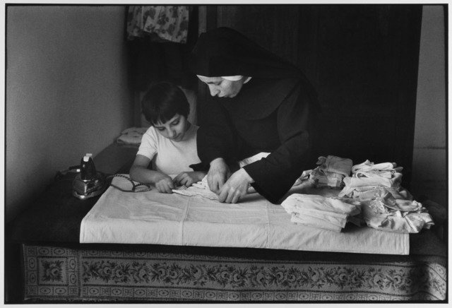 , 'Nun instructing at school for girls, Madonie Mountains, Sicily, Italy,' 1974, Gallery 270