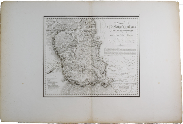 , 'Carte de la Vallée de Mexico,' 1808, Bolivar Old Prints