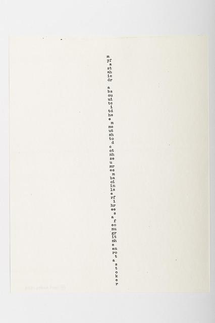 Carl Andre, 'M', 1958, Alfonso Artiaco