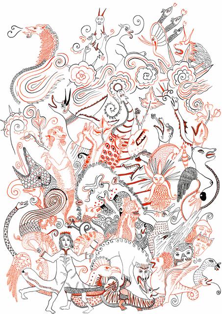 Diane Scheidecker, 'Dragons du Moyen-Âge', 2016, Galerie Sophie Scheidecker