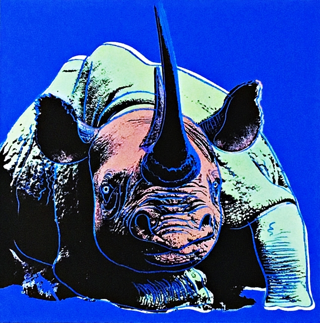 Andy Warhol, 'Blue Rhinoceros ', 1987, Alpha 137 Gallery