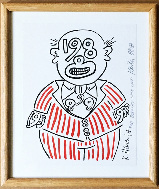 Keith Haring, '1988 Man (Hand signed and inscribed to pioneering art dealer Dorothy Berenson Blau)', 1988, Alpha 137 Gallery