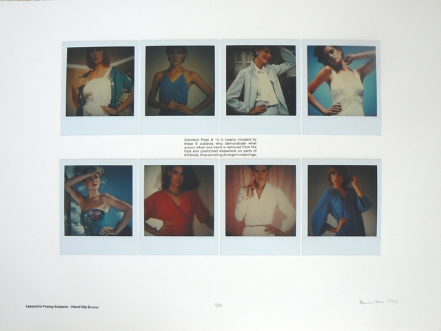 , 'Lessons in Posing Subjects: (Hand/Hip Errors),' 1982, Rhona Hoffman Gallery