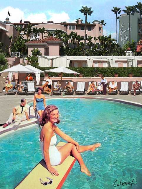 , 'Poolside Beverly Hills Hotel,' 2017, Artspace Warehouse