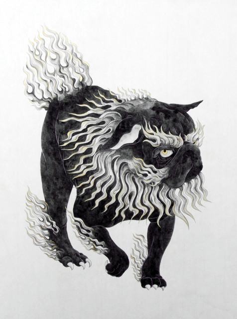 Yoriko Yoshida, 'Shishi-Komainu-One', 2009, Drawing, Collage or other Work on Paper, Watercolor, ink and gold ink on Japanese paper, Japigozzi Collection
