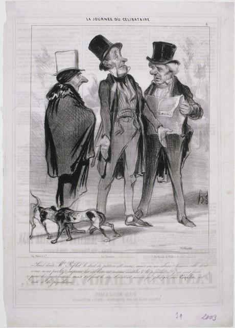 Honoré Daumier, 'La Journee du Célibataire', 1839, Phillips Collection