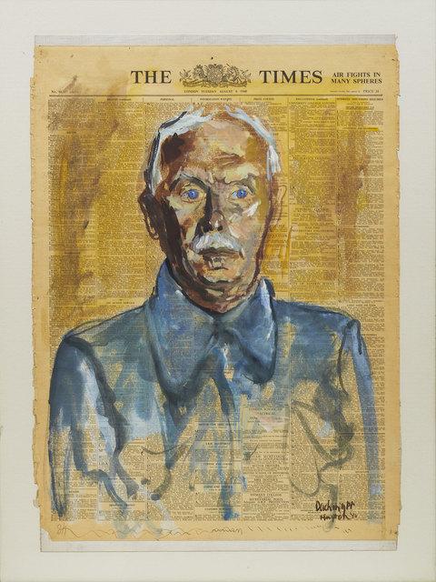 , 'Portrait of a Man: Wilhelm Hollitscher (Huyton Internment Camp, Liverpool),' 1940, Ben Uri Gallery and Museum